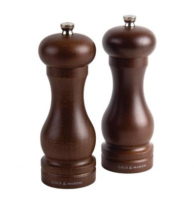 Cole & Mason Salzmühlen | dunkles Holz | 16,5cm | 4 Stück