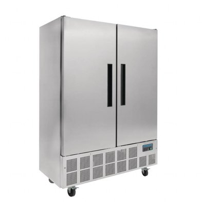 Polar Kühlschrank | Edelstahl | 960 Liter | 2 Türen | 1340x710x(h)2010mm