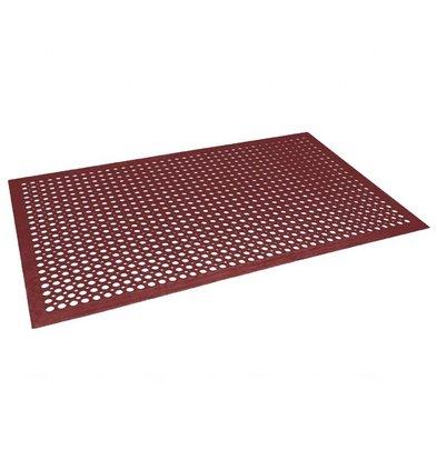 Jantex Anti-Ermüdungsmatte | 150 x 90cm | Rotes Gummi
