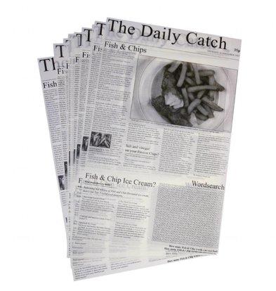 XXLselect Wachspapier Zeitungsdruck   270x420mm   500 Stück