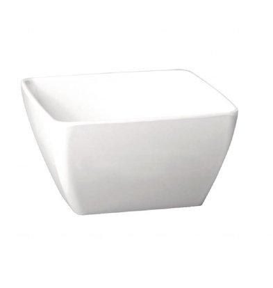 XXLselect Viereckige Schale | 3,8L | 12 x 25 x 25cm | Melamin | Weiß