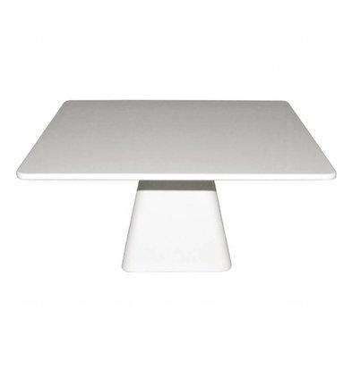 Kristallon Viereckiger Kuchenständer | 30cm | Melamin | Weiß
