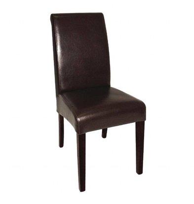 Bolero Esszimmerstühle | runder Rückenlehne | 2 Stück | Kunstleder und Birkenholz