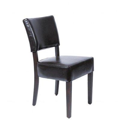 Bolero Esszimmerstühle | Tiefem Sitz | 2 Stück | Kunstleder und Birkenholz | Erhältlich in 2 Farben
