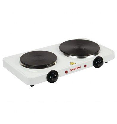Caterlite Elektro-Doppelkochplatte | 2,5kW/230V | 2 Kochplatten
