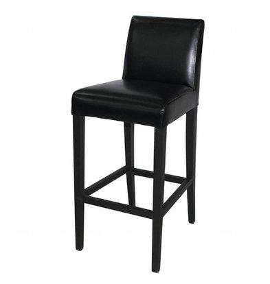 Bolero Barhocker | Rückenlehne | Sitzhöhe: 76cm | Kunstleder/Birkenholz | Erhältlich in 2 Farben