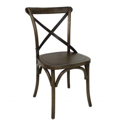 Bolero Esszimmerstühle | 2 Stück | Sitzhöhe: 47cm | Eichenholz | Walnuss