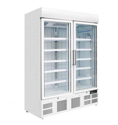 Polar Display Gefrierschrank | 900 Liter | 2 Türen | Weiß