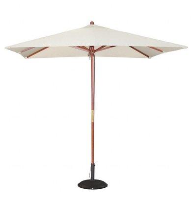 Bolero Viereckiger Sonnenschirm | 2,73 x 2,5 x 2,5m | Flaschenzugsystem | Erhältlich in 4 Farben