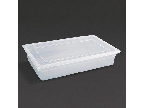 Vogue Polypropylen GN-Behälter GN1/1 | mit Deckel | Erhältlich in 3 Tiefen