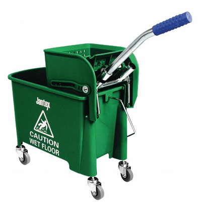 Jantex Moppeimer mit Mopppresse   Fahrgestell   20 Liter   Grün