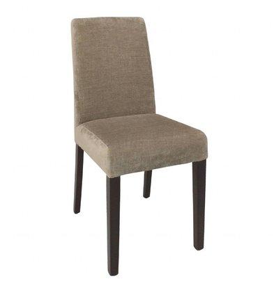 Bolero Esszimmerstühle | 2 Stück | Sitzhöhe: 48cm | Stoff und Birkenholz | Beige
