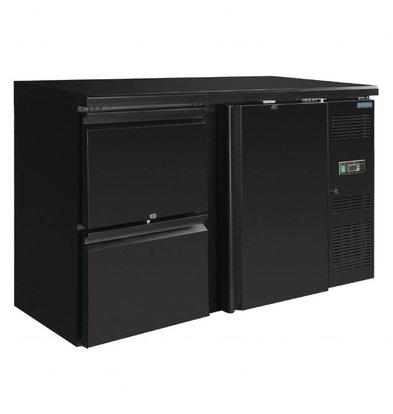 Polar Barkühlschrank | 349 Liter | 1 Tür & 2 Schubladen | Schwarz
