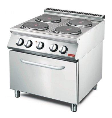 Gastro M Elektroherd | Konvektionsofen | 14,4kW/400V | 4 Kochplatten | 700-Serie