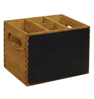 Olympia Besteckbehälter | 15 x 21 x 16cm | Holz