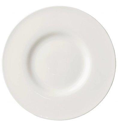Lumina Fine China Teller mit breitem Rand | 6 Stück | Porzellan | Erhältlich in 2 Größen