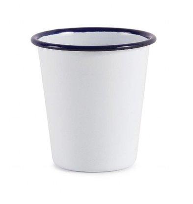 Olympia Becher | 6 Stück | 31cl | Weiß mit Blauem Rand