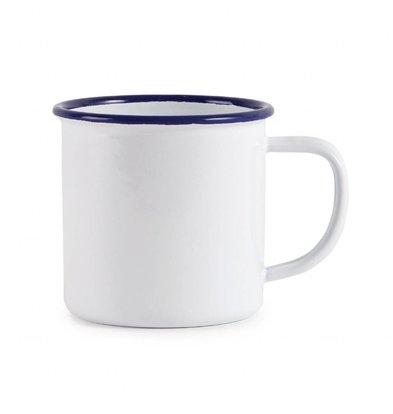 Olympia Tassen | 6 Stück | 35cl | Weiß mit Blauem Rand