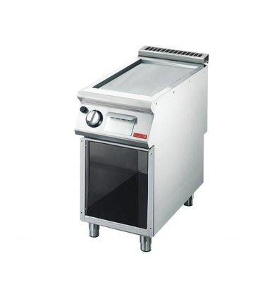 Gastro M Gas-Grillplatte mit Unterbau | 12kW | 40 x 70cm | glatt | 700-Serie