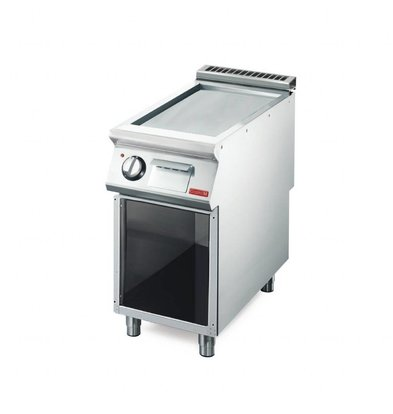 Gastro M Elektro Grillplatte mit Unterbau   5,4kW/400V   40 x 70cm   glatt   700-Serie