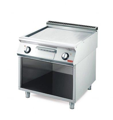 Gastro M Elektro Grillplatte mit Unterbau | 10,8kW/400V | 40 x 70cm | glatt | 700-Serie