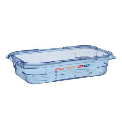Araven GN1/4 Lebensmittelbehälter | Blau | Erhältlich in 3 Tiefen