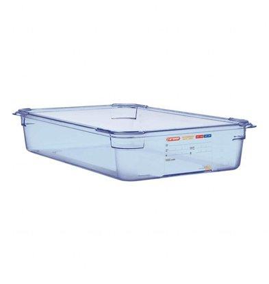 Araven GN1/1 Lebensmittelbehälter   Blau   Erhältlich in 3 Tiefen
