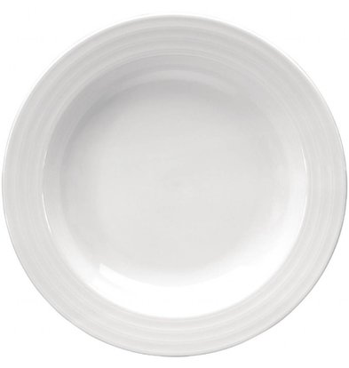 Intenzzo Suppenteller | 4 Stück | 23(Ø)cm | Porzellan | Weiß