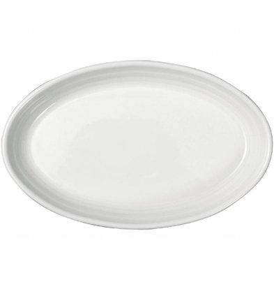 Intenzzo Beilagenteller | 4 Stück | 11 x 17cm | Porzellan | Weiß