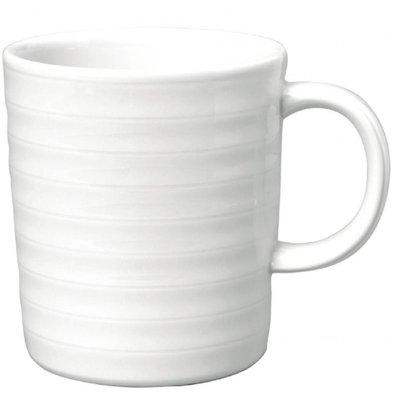 Intenzzo Henkelbecher | 4 Stück | 33cl | Porzellan | Weiß