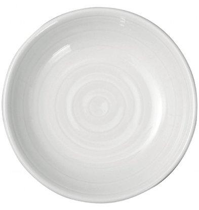 Intenzzo Butterschälchen | 4 Stück | 9(Ø)cm | Porzellan | Weiß