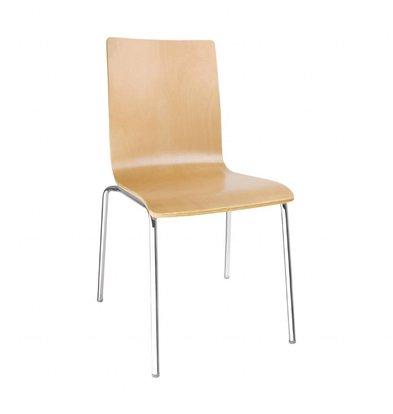 Bolero Esszimmerstühle | 4 Stück | Sitzhöhe: 46cm | Buchenfurnier/Stahl | Erhältlich in 4 Farben