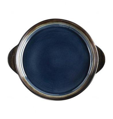 Olympia Runde Tapasschalen | 6 Stück | 19(Ø)cm | Steinzeug | Blau-Schwarz