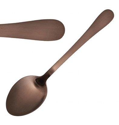 Olympia Dessertlöffel | 12 Stück | 18,2(L)cm | Edelstahl/Kupferbeschichtung