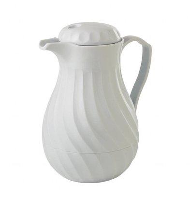 Kinox Isolierte Kaffeekanne | Kunststoff | Weiß | Erhältlich in 3 Größen