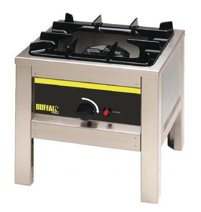 Buffalo Hockerkocher für Propangas | 6kW | 1 Brenner | Propangas