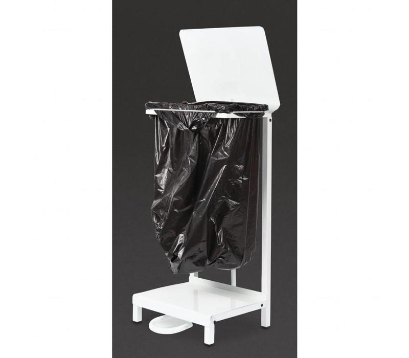 Jantex Abfallsackhalter | Weiß | Pedalbedienung | Stahl