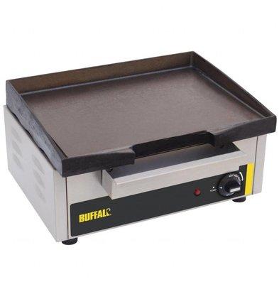 Buffalo Elektro-Grillplatte | 1,8kW/230V | Gusseisenplatte | 38,5 x 28cm | glatt