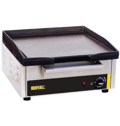 Buffalo Elektro-Grillplatte | 2,8kW/230V | Gusseisenplatte | 38 x 38,5cm | glatt