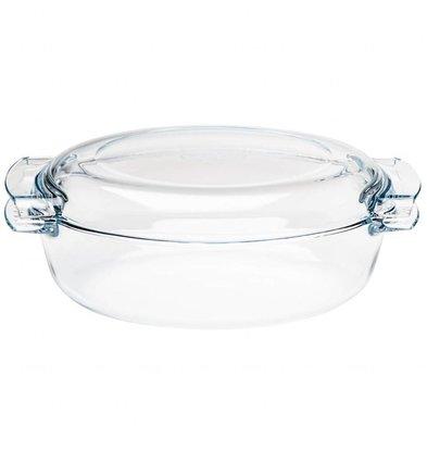 Pyrex Ovaler Glas Schmortopf | 4,5 Liter