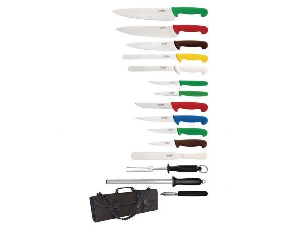 Hygiplas 15-teiliges Messerset mit Tasche