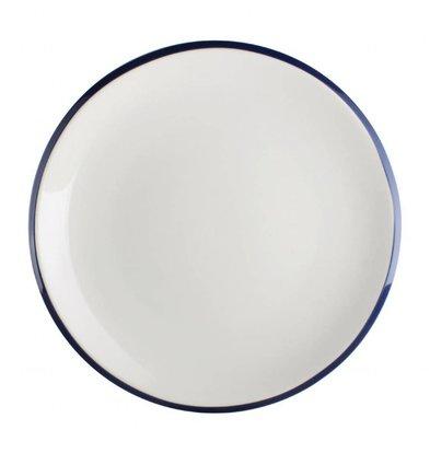 Olympia Coupeteller | 6 Stück | Porzellan | Weiß-Blau | Erhältlich in 2 Größen