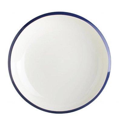 Olympia Nudelteller | 6 Stück | 21,5(Ø)cm | Porzellan | Weiß-Blau
