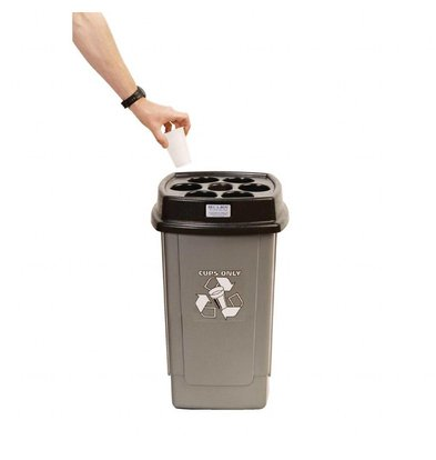 Beca Bin Recycling Abfalleimer für Einwegbecher | Grau