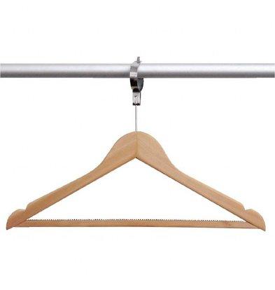 Bolero Kleiderbügel mit Sicherung | Diebstahlsicherung | 10 Stück | Ahornholz