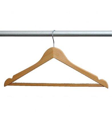 Bolero Kleiderbügel | Standardhaken | 10 Stück | Ahornholz