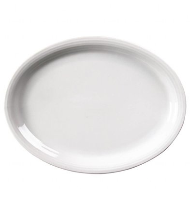 Olympia Ovale Teller | 6 Stück | 29,5 x 22,7cm | Porzellan