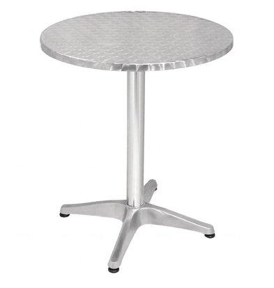 Bolero Runder Bistrotisch Tisch | Aluminium/Edelstahl | Erhältlich in 2 Größen