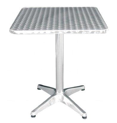 Bolero Viereckiger Bistrotisch | 72 x 60 x 60cm | Edelstahl/Aluminium