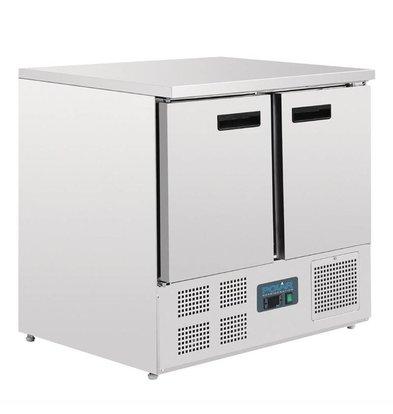 Polar Kühltisch   2-türig    240 Liter   Edelstahl